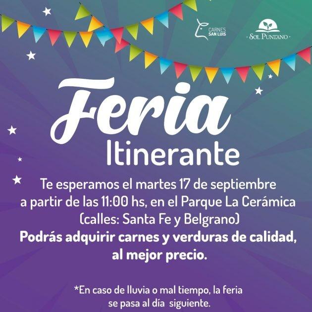 Los productos de Sol Puntano y los cortes del Plan Carnes San Luis vuelven al Parque La Cerámica