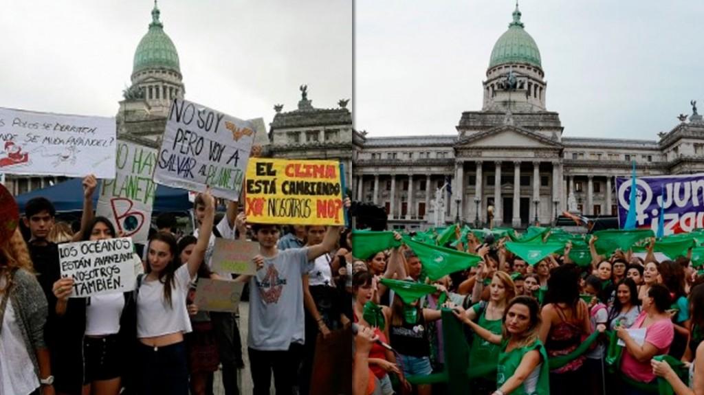 Cambio climático y aborto legal: las marchas de este viernes en todo el país