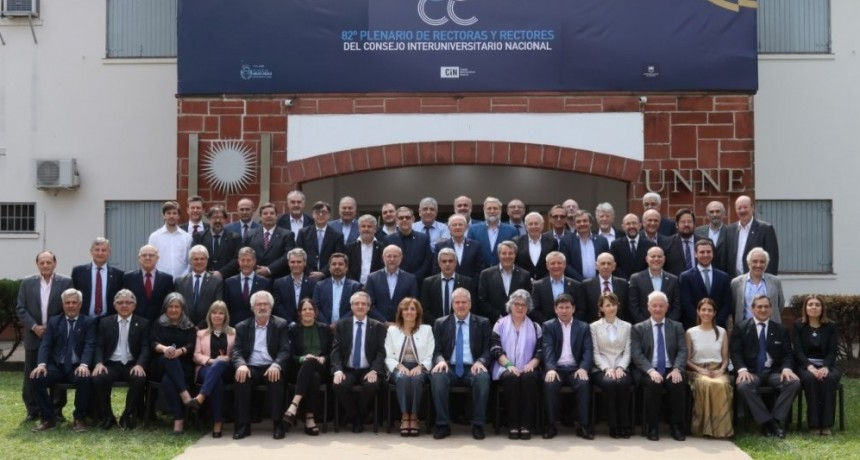 Nieto Quintas participó de su último Plenario del CIN como Rector de la UNSL
