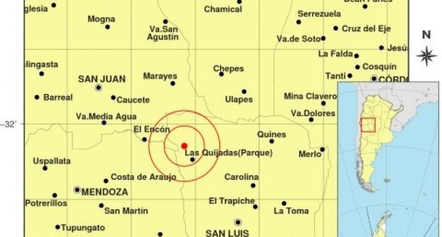 Se registró un temblor al norte de Sierra de las Quijadas