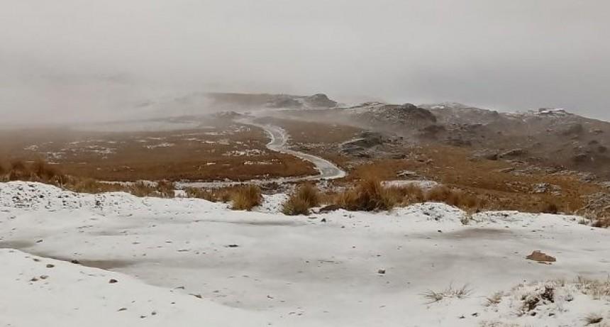 La nieve sorprendió en la Sierra de los Comechingones