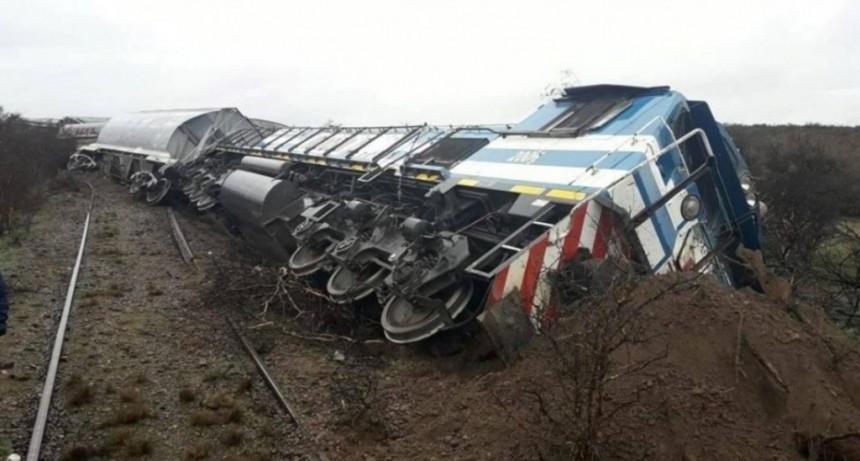 Río Negro: un tren de carga embistió a una vaca y descarriló