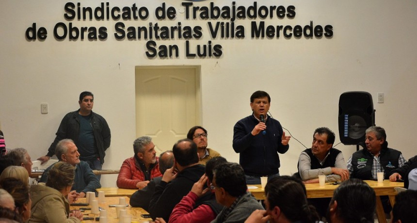 Las organizaciones gremiales de Villa Mercedes junto a ministros abordaron la crisis nacional