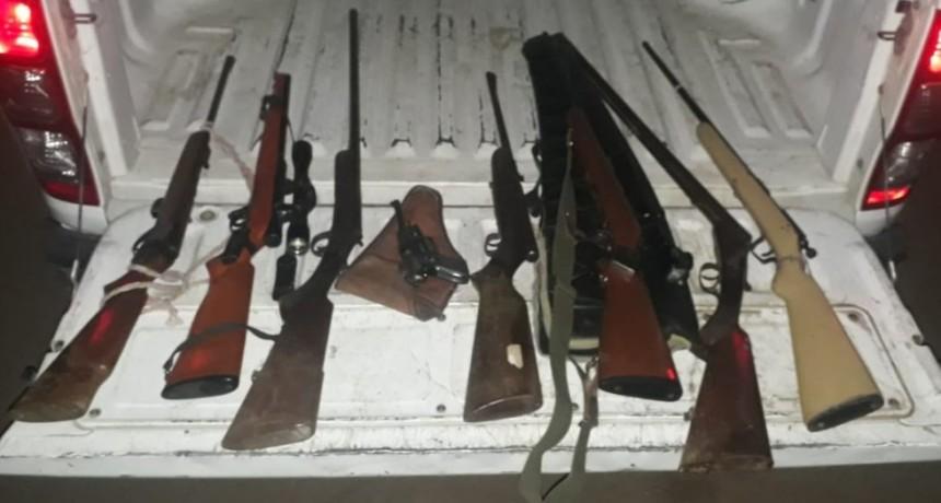 San Francisco del Monte de Oro: policías secuestraron armas de fuego