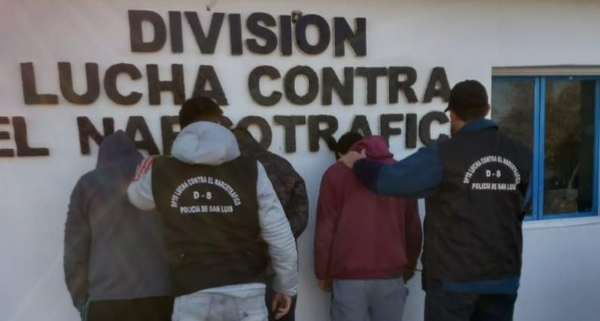 San Luis: cuatro regenteadores de centros de distribución de drogas fueron enviados a la cárcel