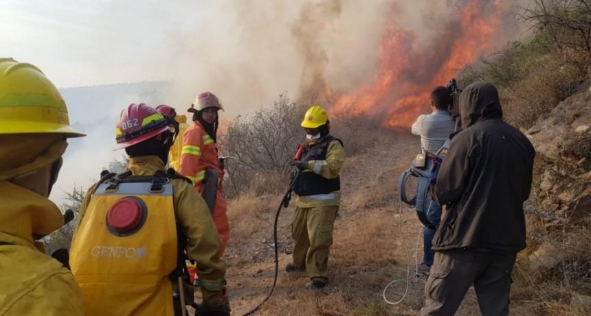 Detuvieron a un hombre acusado de iniciar uno de los incendios en Córdoba