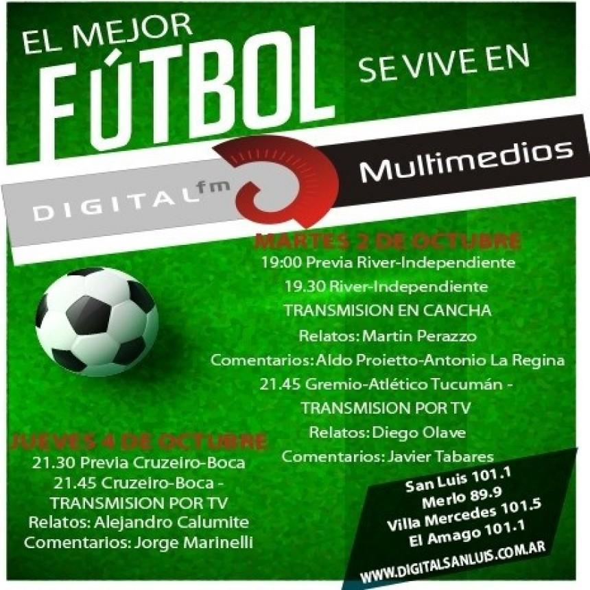 Toda la Copa Libertadores la podrás vivir en Radio Digital