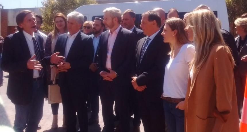 El ministro Rogelio Frigerio visitó la ciudad de San Luis y La Punta