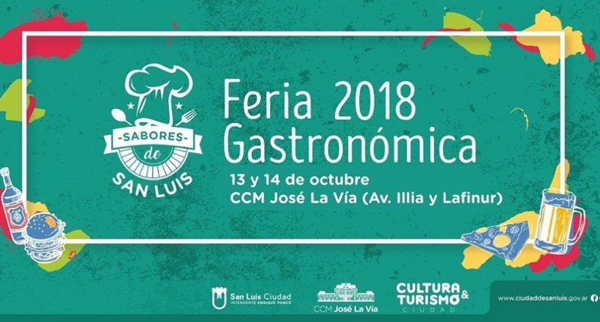 Se viene la Feria Gastronómica en San Luis