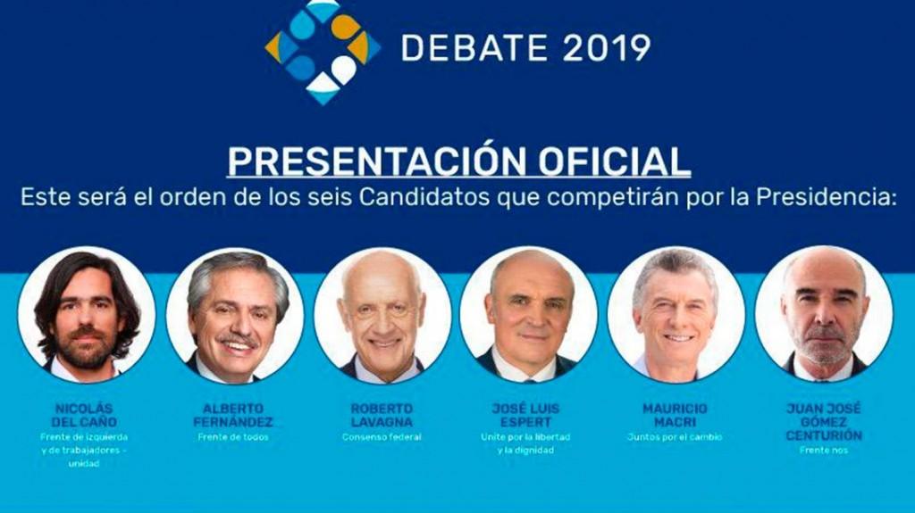 Debate presidencial: horario, TV y lugar