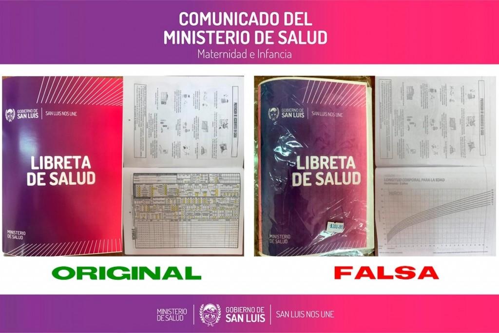 Aclaran sobre la comercialización de Libretas de Salud Falsas
