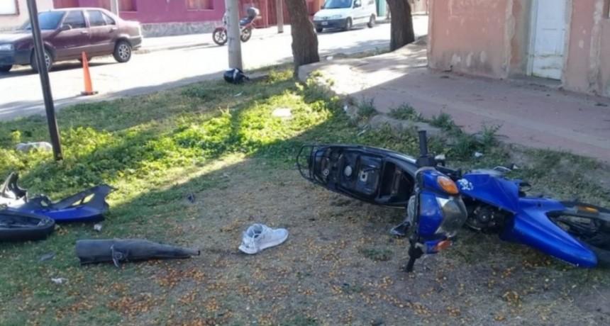 San Luis: un motociclista terminó internado tras chocar con un auto