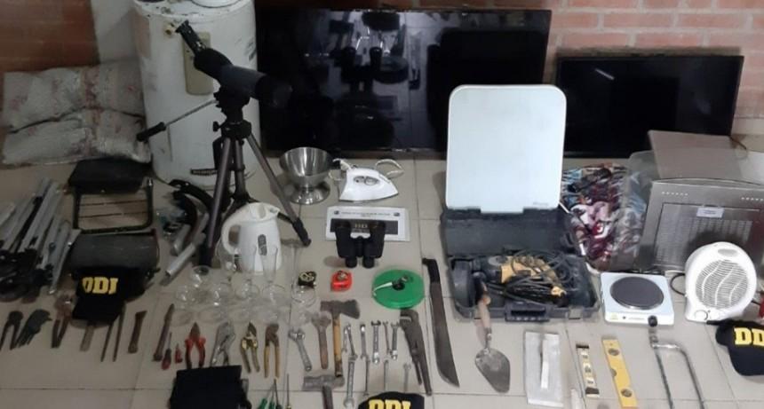 Merlo: recuperaron elementos robados en 3 allanamientos