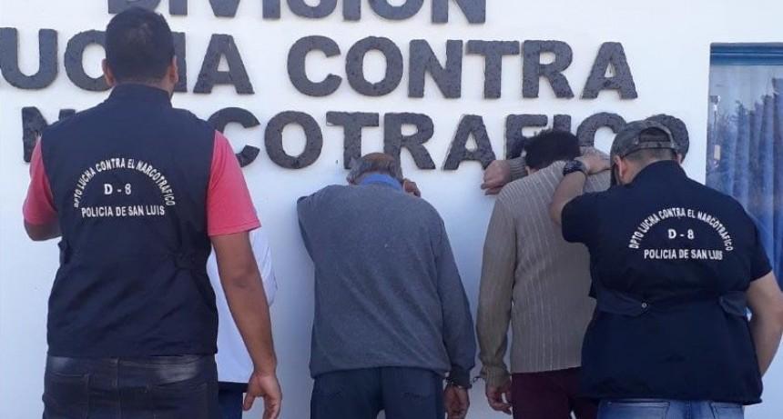 San Luis: enviaron a la carcel a tres hombres que pertenecían a una organización que comercializaba droga