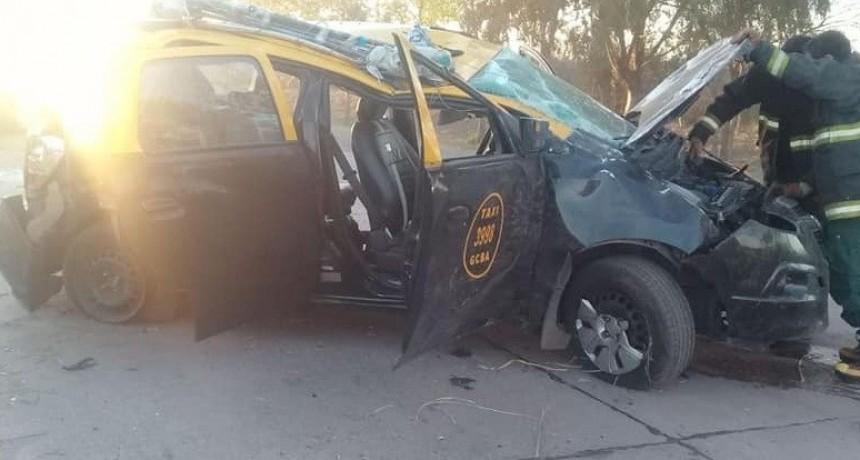 Juana Koslay: un auto volcó en la Autopista de la Serranías Puntanas