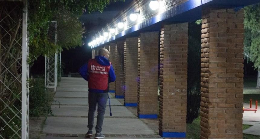 Más iluminación y seguridad en el Parque IV Centenario