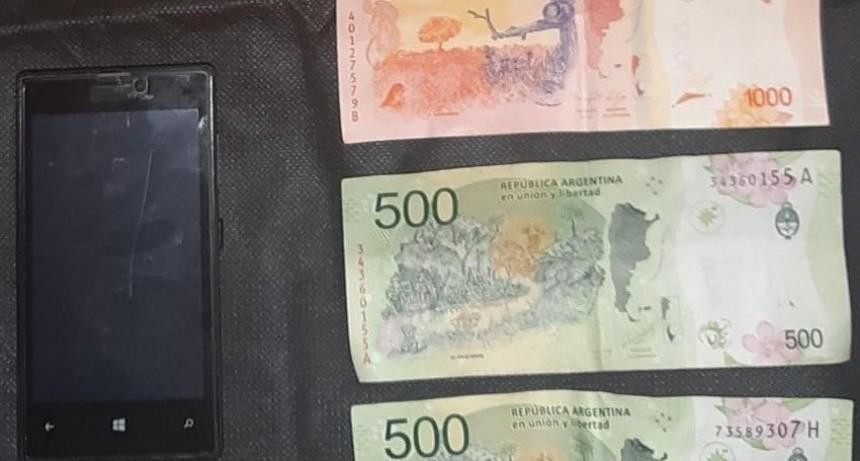 Merlo: detuvieron a un hombre que robó un celular y dinero