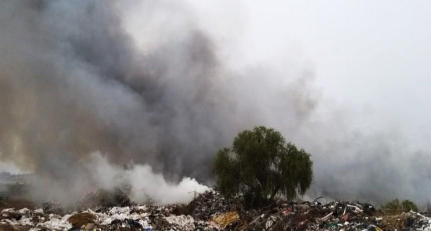Detectaron una nueva quema de residuos en el Centro de Disposición Final de la Municipalidad de San Luis