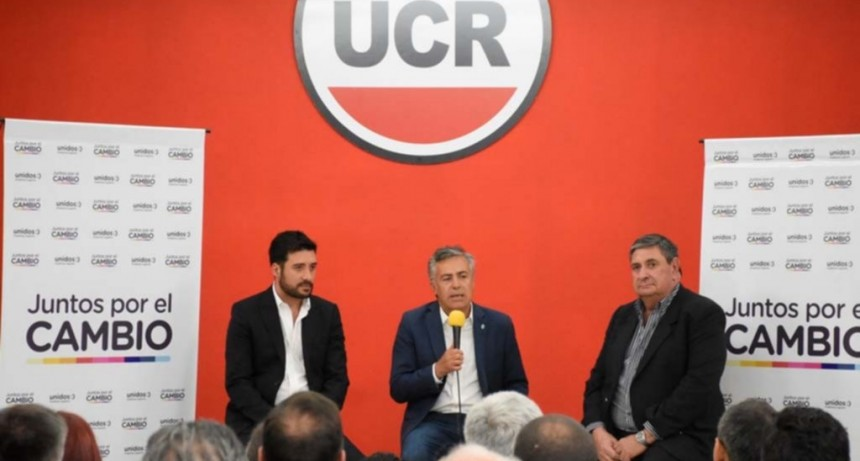 Cornejo visitó San Luis y habló de la debilidad de Alberto Fernández en el debate