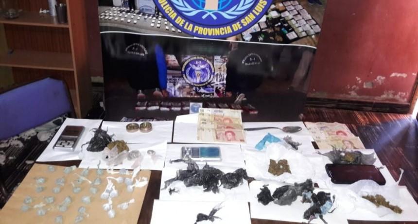 San Luis: anularon un centro de distribución de drogas