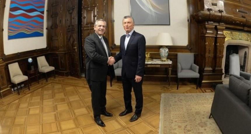 Mauricio Macri se reunió con Alberto Fernández en la Casa Rosada