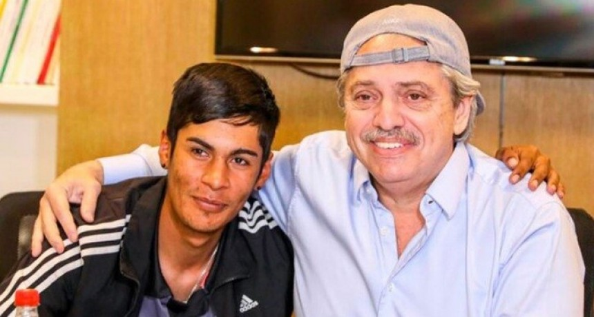 Alberto Fernández recibió a Brian, el presidente de mesa discriminado por su vestimenta