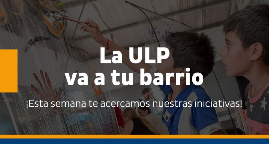 Este jueves y viernes las iniciativas de la ULP estarán en el barrio 131 Viviendas