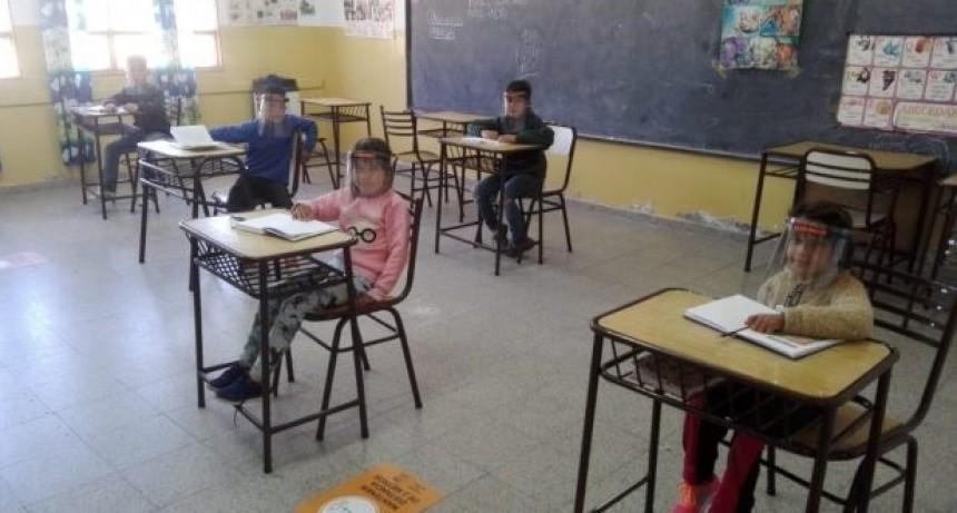 Otras seis escuelas rurales se suman a la presencialidad