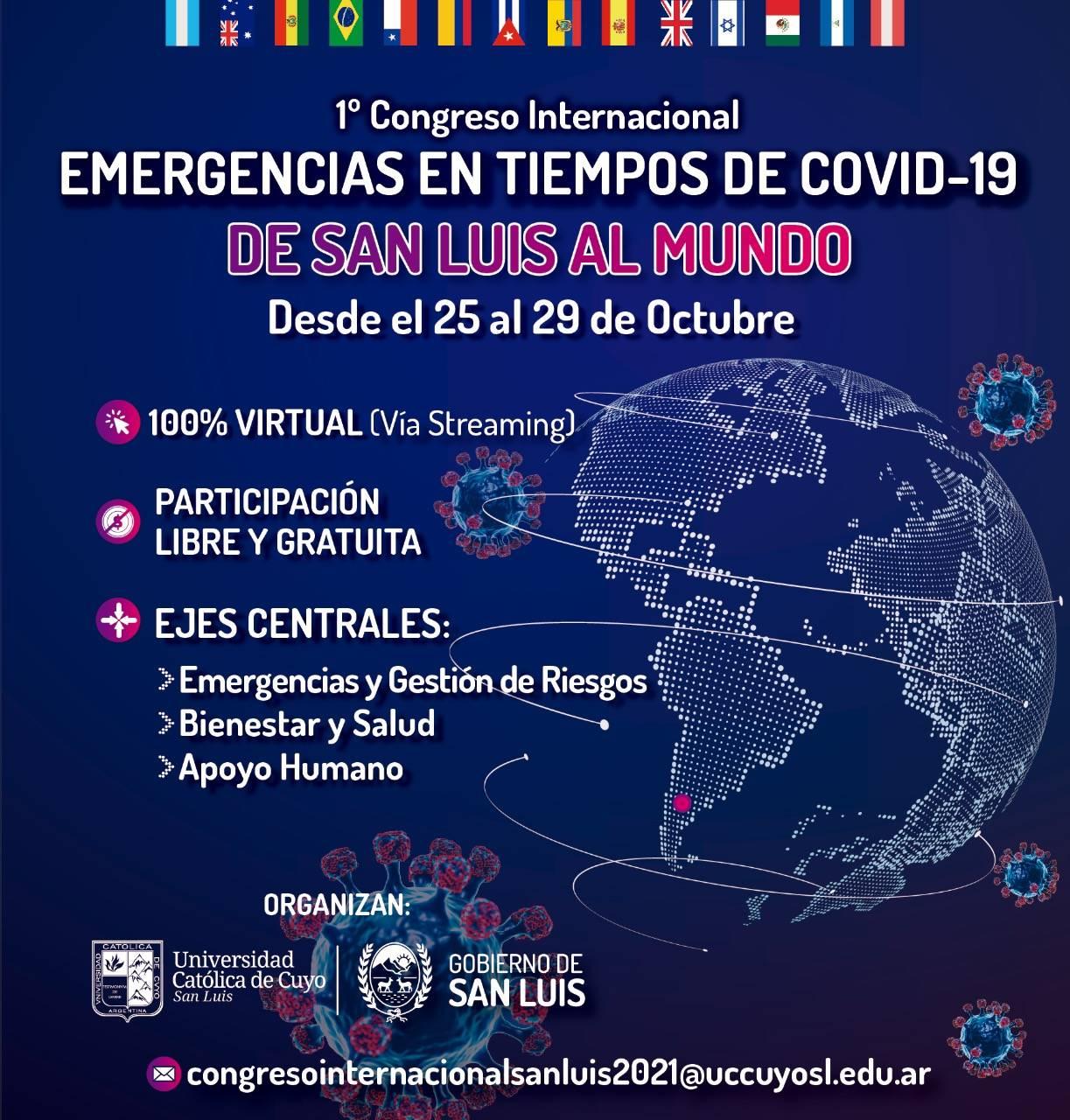 De San Luis al mundo: se realizará el primer Congreso Internacional