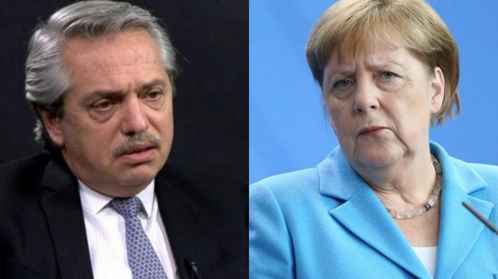 Alberto Fernández respondió el saludo de Merkel y le marcó la cancha a la Unión Europea