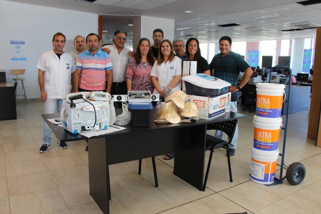 Entregaron insumos y equipamientos a los hospitales de Buena Esperanza y La Calera