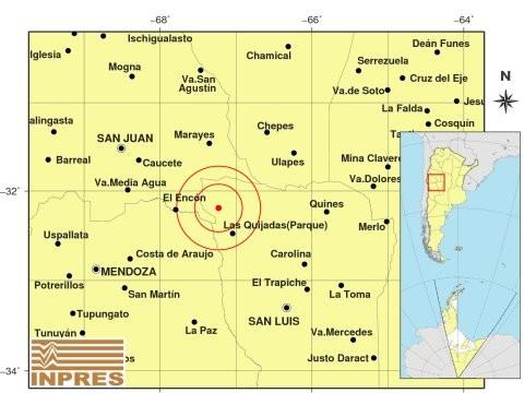 Un temblor de regular intensidad sacudió el extremo noroeste de la provincia