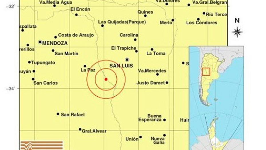 Se registró un fuerte sismo en Mendoza y el temblor llegó hasta San Luis