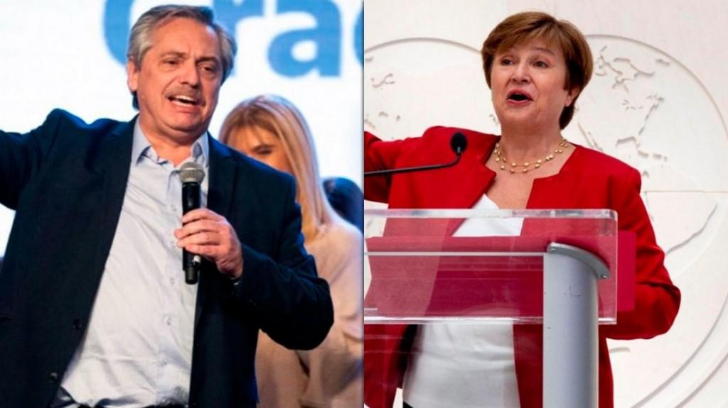 Alberto Fernández habló con Georgieva y le propuso pagar al FMI, pero