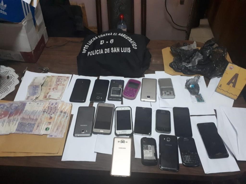 San Luis:  anularon 3 centros de distribución de drogas