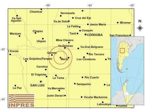 Tembló cerca de Santa Rosa del Conlara y se sintió en varias localidades