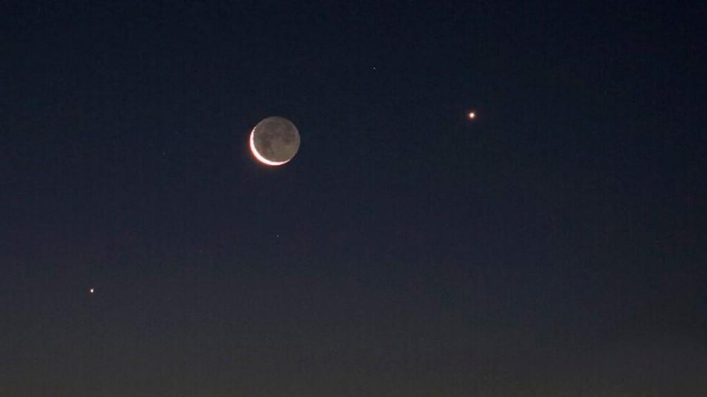 La Luna, Venus y Júpiter se alinearon: el fenómeno ocurre cada 24 años