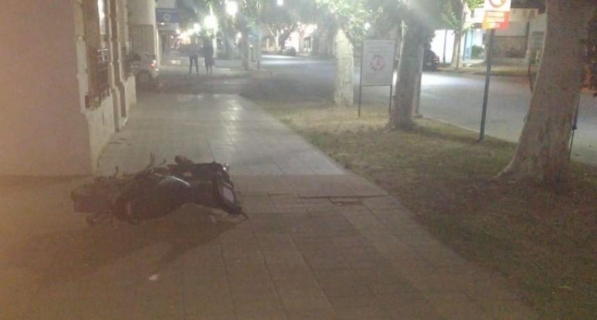 Villa Mercedes: un motociclista sufrió un accidente y esta grave