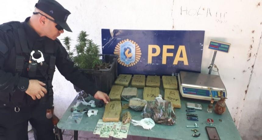 San Luis: la Policía Federal incautó más de 9 kilos de marihuana