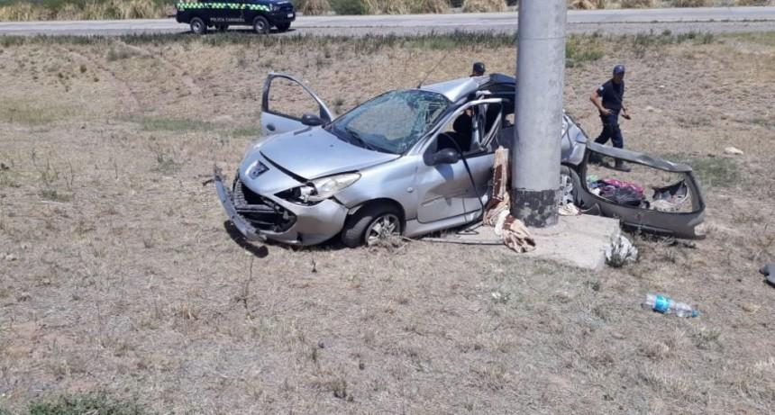 Balde: cuatro policías de Mendoza tuvieron un fuerte accidente