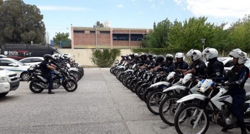 San Luis: 10 personas fueron detenidas y 52 motos secuestradas en un nuevo megaoperativo policial