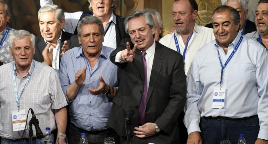 Alberto Fernández con la CGT: