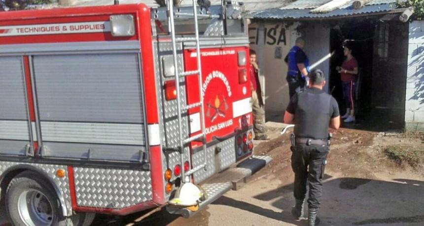 San Luis: sofocaron un incendio en un hogar del barrio Aeroferro