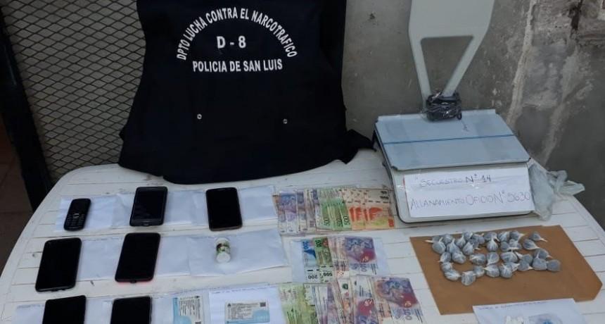 Villa Mercedes: anularon un centro de distribución de drogas