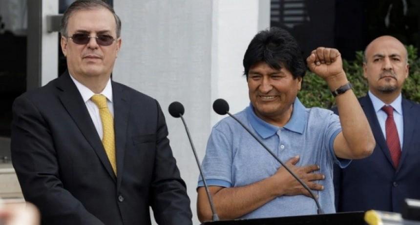 Evo Morales llegó a México: