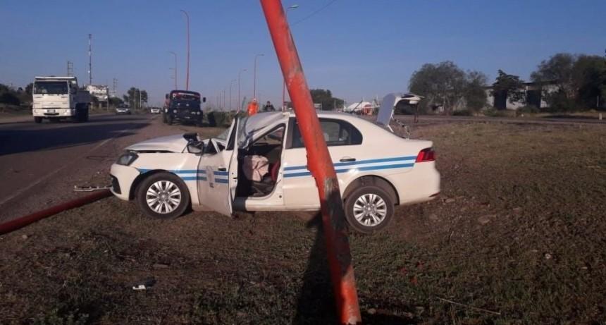 San Luis: un taxista sufrió un grave accidente en Avenida Santos Ortiz; su estado es reservado