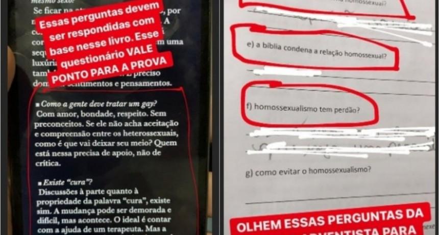 En una escuela de Brasil preguntan en una evaluación si