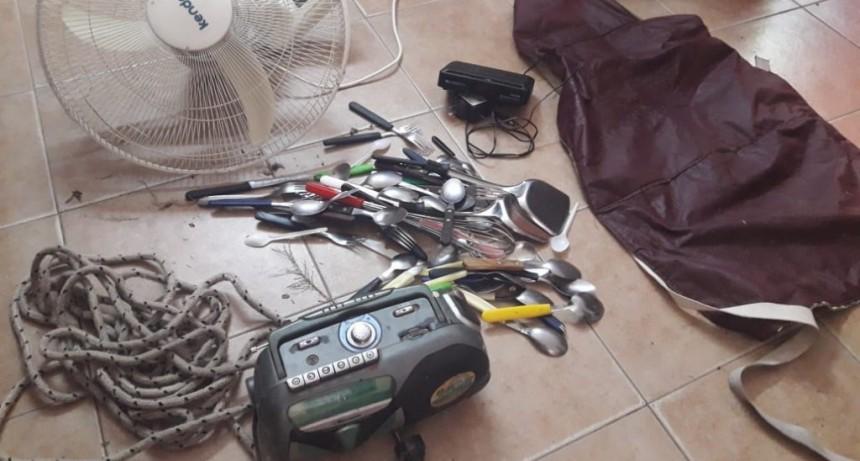Villa Mercedes: detuvieron a un hombre y recuperaron elementos robados de un establecimiento escolar
