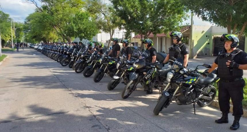 San Luis: 120 policías y 87 móviles fueron afectados a un nuevo Operativo de Prevención