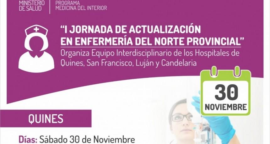 """Este sábado serán las """"I Jornadas de Actualización en Enfermería del Norte Provincial"""""""